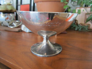 Antique Bailey Banks Biddle Co Sterling Silver Baptism Cup Bowl Footed Chalice