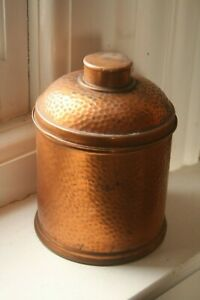 Vintage Coppered Container Storage Pot With Lid