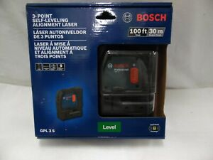Bosch Gpl 3 S Self Leveling Alignment Laser Level 100 Ft pds005459