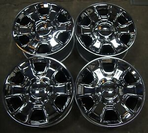 Gmc Sierra Yukon Chevy Silverado Chrome 18 Oem Wheels Rims 13 19 5648 1567