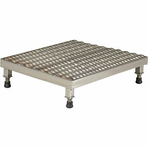 Vestil Adjustable Serrated Work mate Stand 24inw X 24ind X 5inh Stainless Steel