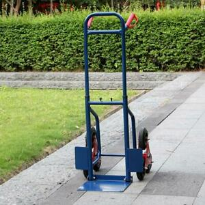 440lbs Blue Stair Climbing Moving Dolly Hand Truck Warehouse Appliance Cart Hea