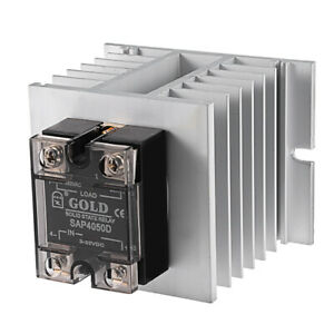 Sap4050d 3 32vdc To 40 480vac 50a Single Phase Solid State Relay Module Dc On Ac