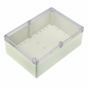 263 X 182 X95mm Electronic Abs Plastic Junction Box Enclosure Case W Clear Cover