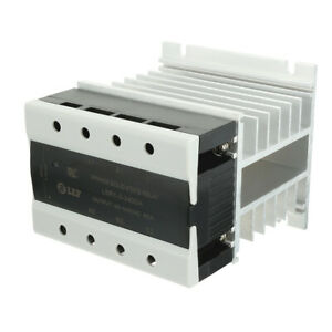 40a 3 32vdc To 40 440vac Thermal Compound 3 Phase Solid State Relay Heat Sink