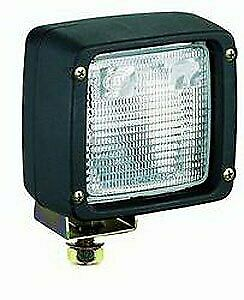 Hella H15506021 Ultra Beam Halogen Work Lamp Square Clear Lens Black Housing