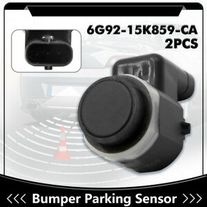 2pcs 6g92 15k859 Ca Car Rear Bumper Reverse Backup Park Assist Sensor For Ford