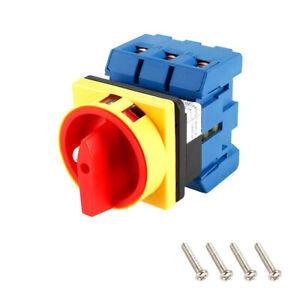 Changeover Switch 2 Position Rotary Selector Cam Switch 6 Terminals Latching 80a