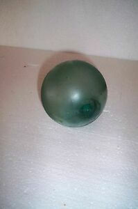 Vintage Glass Fishing Float Many Bubbles