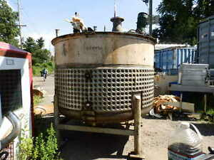 B Nolte Sons 1800 Gallon Jacketed Stainless Steel Tank With Lightin Mixer