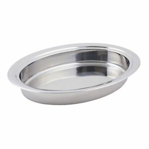 Bon Chef 20201 Stainless 20 Stackable Oval Food Pan For Chafer