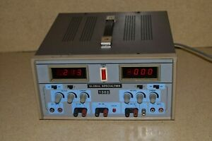 Global Specialties Model 1302 Digital Triple Output Dc Power Supply