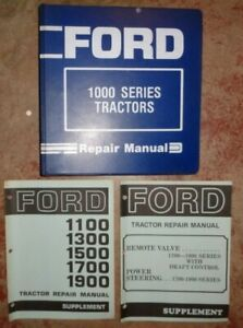 Ford 1300 1500 1700 1900 Tractor Service Repair Shop Manual Original Plus 1100