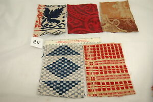 Coverlet Antique Sections For Pillows Lot Of 5 Appliques Hearts C11