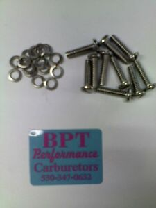 10 Stainless Steel Float Hinge Screws For Holley Bg Aed Demon Grant Qft Carbs