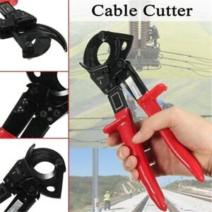 Ratchet Cable Cutter Ratcheting Metal Wire Cut Up To 240mm 2 Cutting Hand Tool