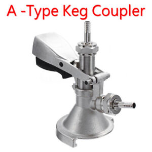 Gray Micro A type System Beer Keg Bar Coupler Lever Draft For Domestic Keg Sale