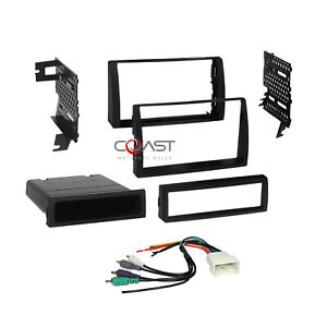 Car Radio Stereo Single 2din Dash Kit Jbl Wire Harness For 2002 06 Toyota Camry