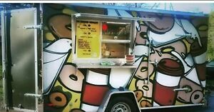 Food Truck Trailer cake Donuts Turnkey Business Read