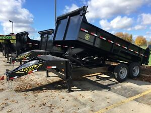 14ft Gator Made Dump Trailer 16k Gvwr