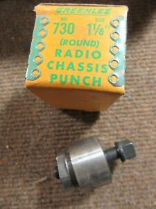 Vintage Greenlee 730 Round Radio amp Chassis Knock out Hole Punch 1