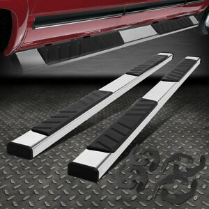 For 07 19 Silverado Sierra Crew Cab Stainless Steel 5 Step Bar Running Board