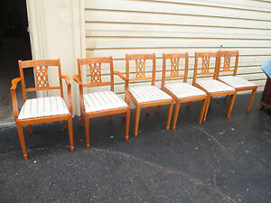 52974 Set 6 Maple Dining Room Chairs Chair S