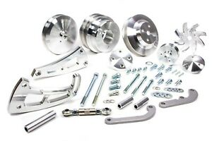 March Performance 23020 Aluminum Big Block Chevy Serpentine Ultra Pulley Kit