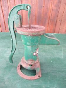 Old Cast Iron Pitcher Hand Water Pump In Great Condition Signed Mcdougall