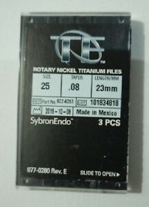 Pack Of 2 Sybronendo Tf Twisted Nickel Titanium Rotary File S25 Taper 08 L23mm