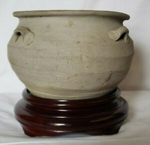 Sung Dynasty Chinese 7 75 In Width 2 2 Lbs Pottery Bowl With 4 Small Handles