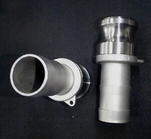 Stainless Steel Cam Lock Adapter 1 1 4 Male 1 1 4 Hose Barb Clhb125