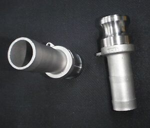 Stainless Steel Cam Lock Adapter 1 Male 1 Hose Barb Clhb100