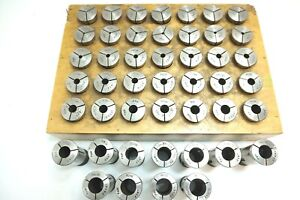 Lot Of 46 Pieces Pratt Whitney P w 5pn Collets 1 32 To 1 For 3c 10 Lathe