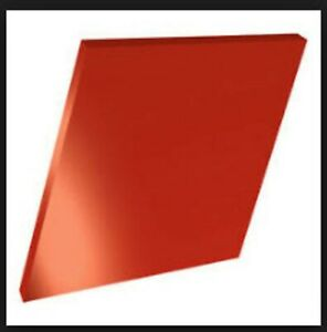 Acrylic Sheet 125 x24 x48 Fire Red Opaque Perspex Plexiglas Lucite Gloss