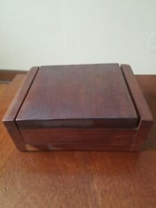 Small Artisan Wooden Box Trinket Box Storage Keepsake Jewelry Box 4 X2 5 X1 5