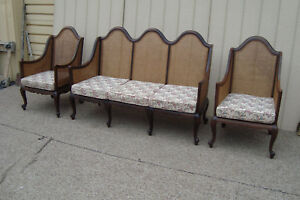 59166 T 2 Antique 3 Piece Sofa With 2 Chair S Parlor Set