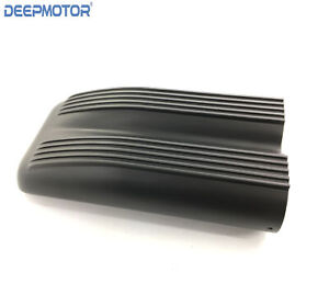 Black Aluminum Finned Top Shotgun Intake Air Scoop Single Dual Carb Setup