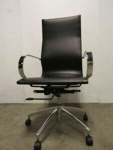Zuo Modern High Back Glider Office Chair 100371 Black