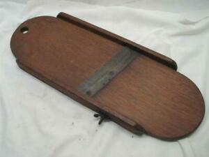 Antique 1843 Patent Wooden Slaw Board Primitive Cabbage Cutter Tool A Smith