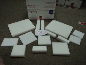 Cnc Mill Assorted Plastic White Delrin Acetal Block And Sheet Lot 14 Pcs 808