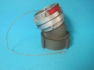 Snap tite 4 40 Nst Fire Hose Adapter Coupler 30 Degree Elbow W cap
