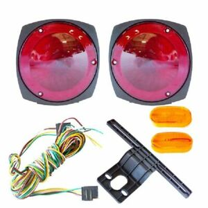 New 12v Trailer Light Kit W Wiring Harness Replacement Brake Marker Towing Tail