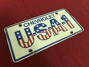 Vintage Chevrolet Usa 1 Licence Plate Gm Steel 60 s Chevy