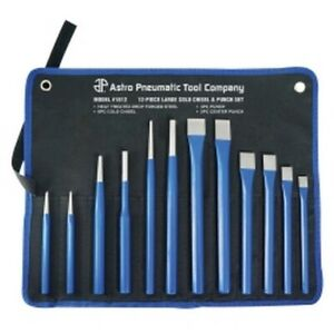 12 Piece Large Cold Chisel And Punch Set Ast1612 Brand New