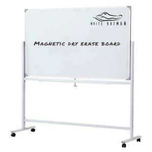 White Kaiman Dry Erase Magnetic Whiteboard W stand Double Sided Reversible
