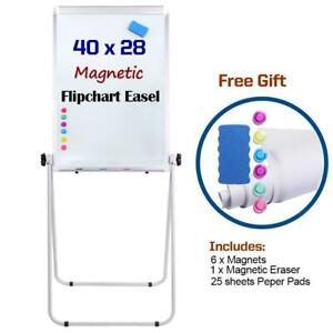 Portable Double Sided 40 X28 Magnetic Dry Erase Board Easel With U stand