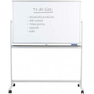 Vivo Mobile Dry Erase Board 48 X 32 Double Sided Magnetic Whiteboard