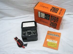 Simpson 260 Series 6 Vom Multimeter W box Volts ohm Test Tool Multi Meter
