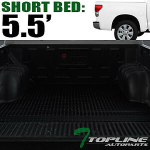 Topline For 2007 2020 Toyota Tundra 5 5 5 6 Ft Rubber Truck Bed Mat Liners Blk